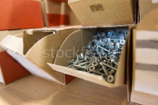Carton cases atelier production industrie bâtiment Photo stock © dolgachov