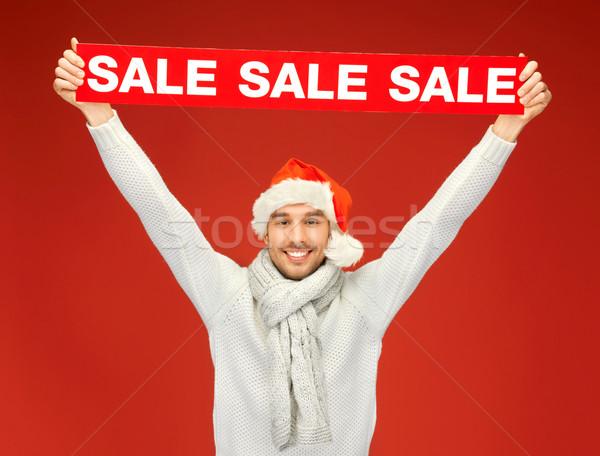 Homem bonito natal seis brilhante quadro homem Foto stock © dolgachov