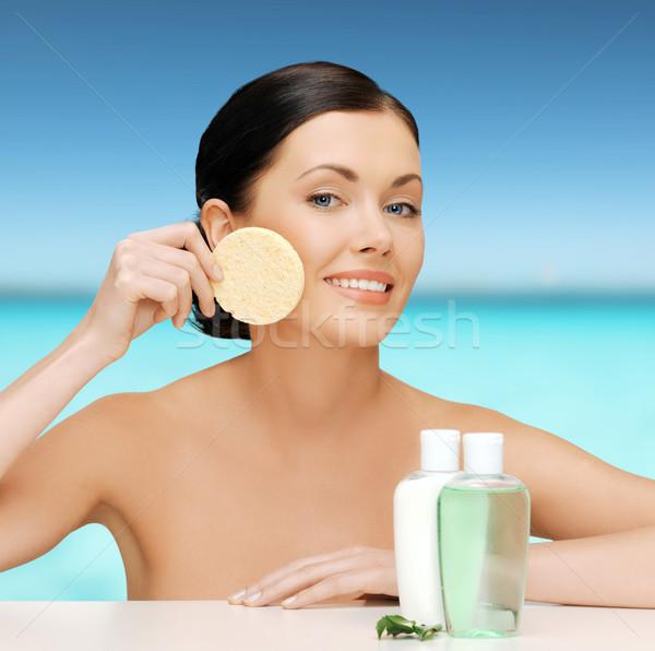 Stock photo: woman with sponge
