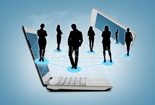 Smartphone komputera działalności technologii laptop Zdjęcia stock © dolgachov