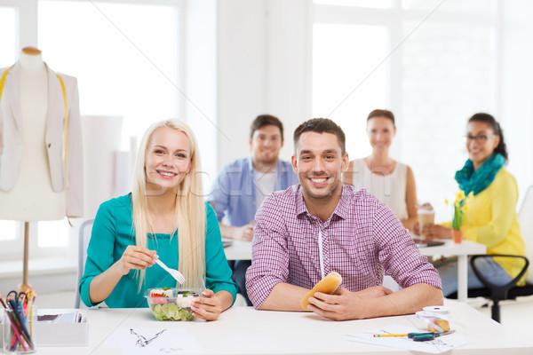 Sonriendo moda almuerzo oficina inicio educación Foto stock © dolgachov