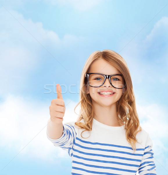 Сток-фото: девочку · черный · очки · образование · школы · видение