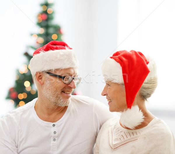 幸せ サンタクロース ヘルパー 家族 ストックフォト © dolgachov