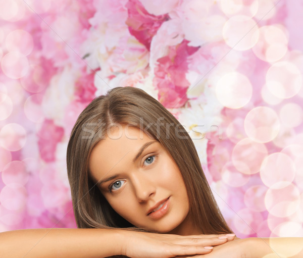 Belo mulher jovem nu ombros beleza pessoas Foto stock © dolgachov