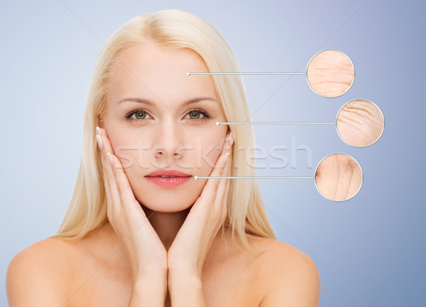 face of beautiful happy young woman Stock photo © dolgachov
