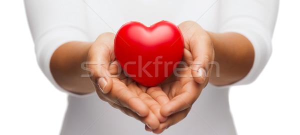 Mani rosso cuore persone rapporto Foto d'archivio © dolgachov