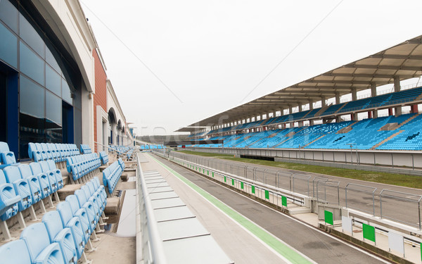 empty speedway and bleachers on stadium Stock photo © dolgachov