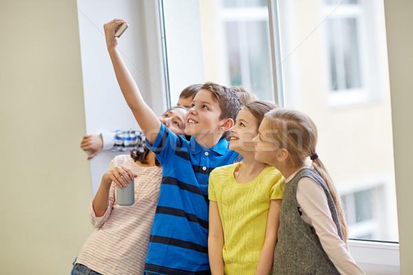 Grupo escolas crianças soda educação Foto stock © dolgachov