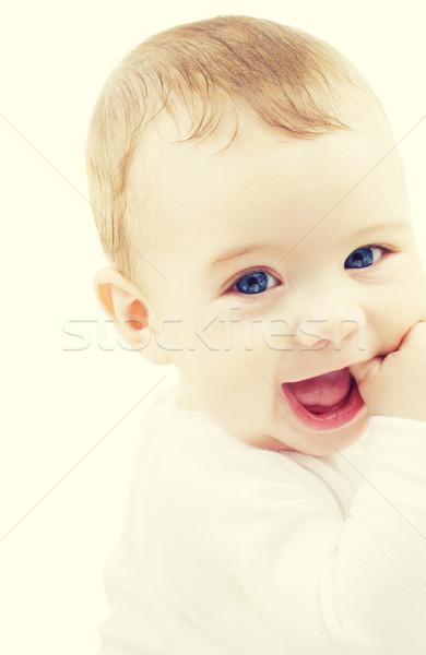 Adorável bebê menino criança pessoas felicidade Foto stock © dolgachov