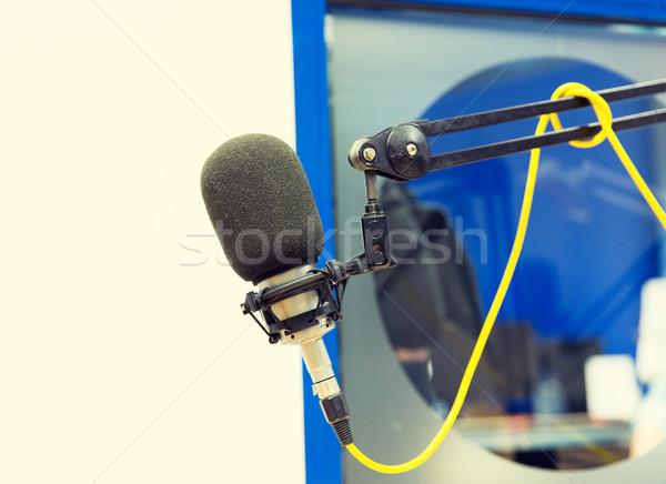 マイク ラジオ 駅 技術 エレクトロニクス ストックフォト © dolgachov