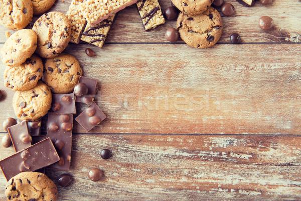Bonbons chocolat muesli cookies Photo stock © dolgachov