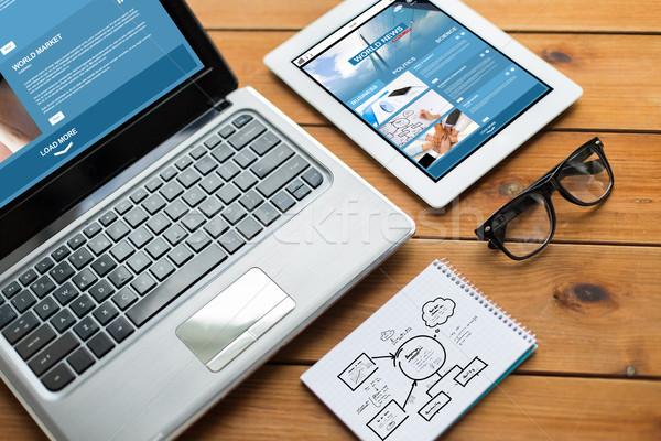 Stockfoto: Laptop · notebook · business · sympathiek