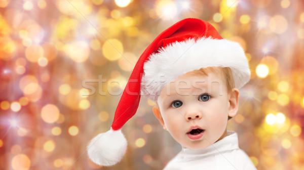 Stock fotó: Gyönyörű · kicsi · baba · fiú · karácsony · mikulás