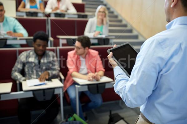 Nauczyciel studentów wykład edukacji liceum Zdjęcia stock © dolgachov