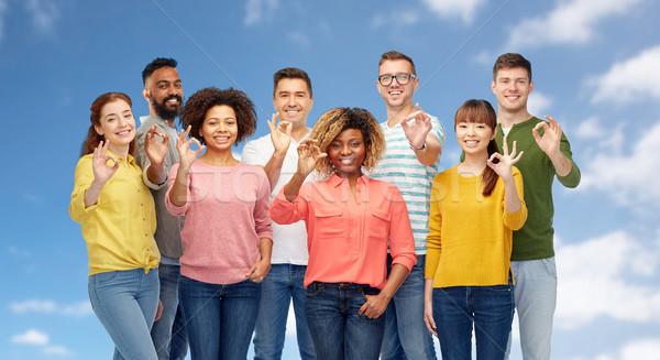 Foto stock: Internacional · grupo · pessoas · felizes · diversidade