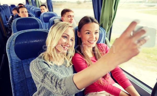 Stok fotoğraf: Kadın · seyahat · otobüs · taşıma