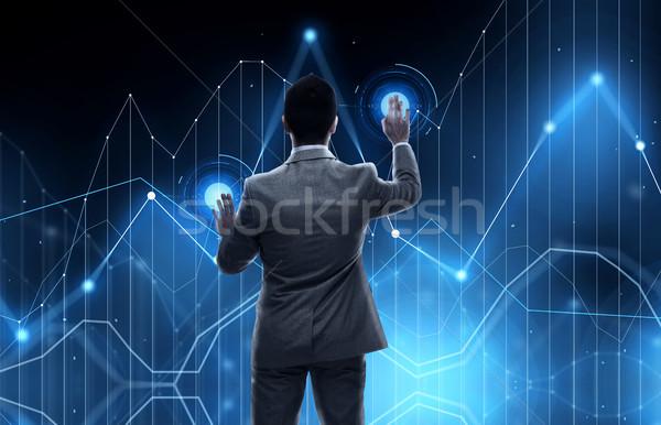 Affaires travail graphique projection affaires Photo stock © dolgachov