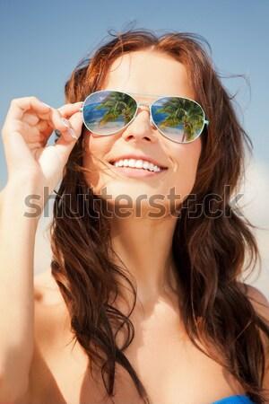 Topless różowy włosy dziewczyna kask zdjęcie Zdjęcia stock © dolgachov