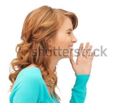 Chismes brillante Foto mujer Foto stock © dolgachov