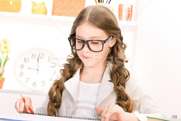 Student heldere foto leren meisje Stockfoto © dolgachov