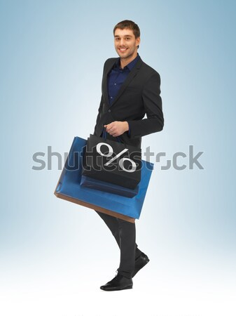 Stockfoto: Knappe · man · pak · foto · man · gelukkig