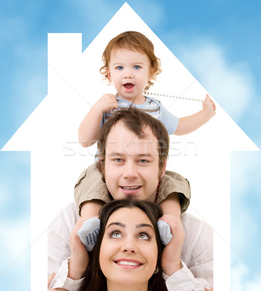 happy family Stock photo © dolgachov