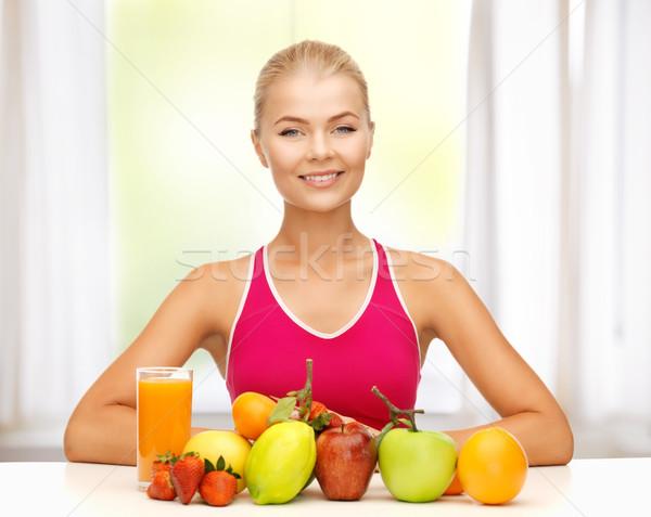 女性 自然食品 果物 画像 若い女性 食品 ストックフォト © dolgachov