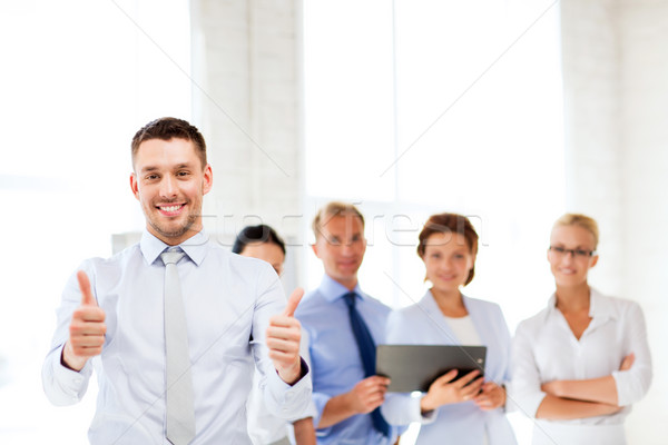 Empresario oficina atractivo negocios reunión Foto stock © dolgachov
