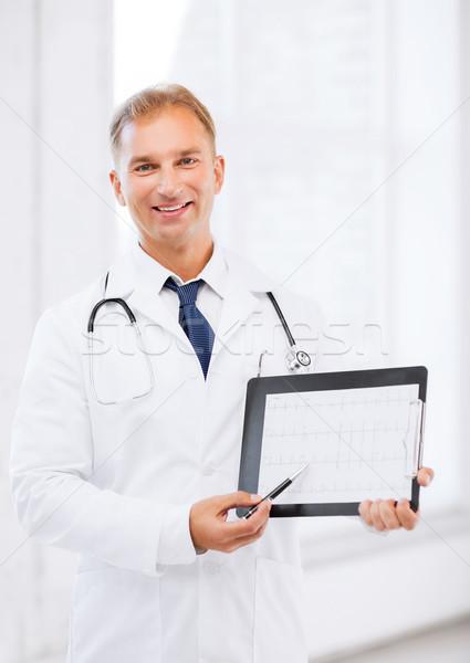 男性医師 聴診器 心電図 医療 医療 ストックフォト © dolgachov