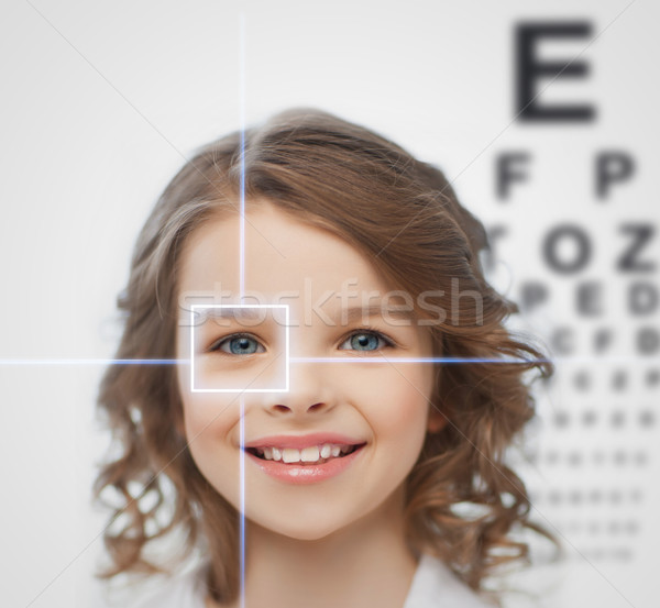 少女 視力 テスト ボード 健康 ビジョン ストックフォト © dolgachov