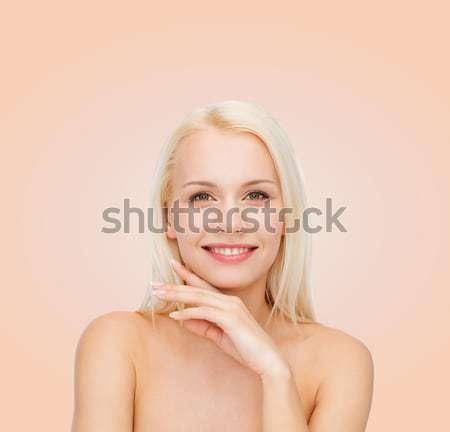 Arc kezek gyönyörű nő egészség szépség nő Stock fotó © dolgachov