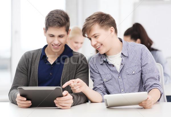 Stockfoto: Studenten · naar · college · school · onderwijs