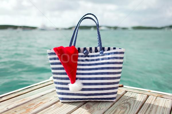 помощник Hat пляж Сток-фото © dolgachov