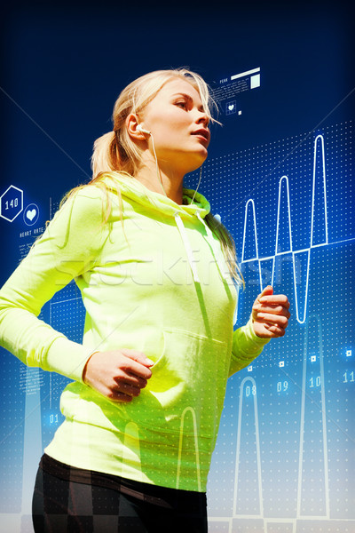 fit woman doing running outdoors Stock photo © dolgachov