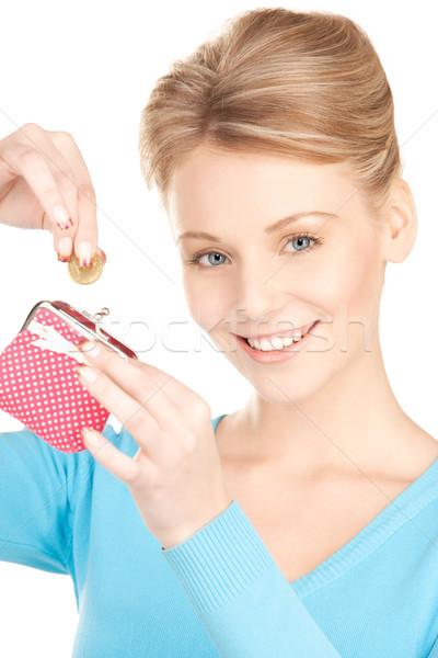 Stock fotó: Nő · pénztárca · pénz · kép · arc · portré