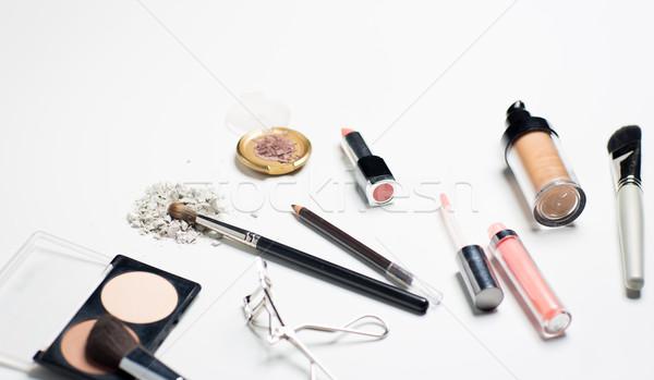 close up of makeup stuff Stock photo © dolgachov