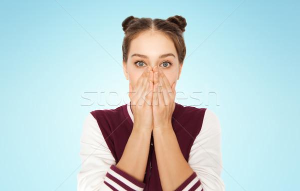Miedo confundirse personas emoción adolescentes Foto stock © dolgachov