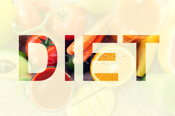 healthy eating and vegetarian diet concept Stock photo © dolgachov