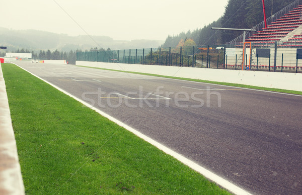 close up of speedway track or road and stands Stock photo © dolgachov