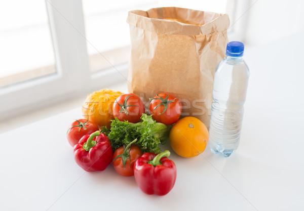 Stok fotoğraf: Sepet · taze · sebze · su · mutfak · pişirme · diyet