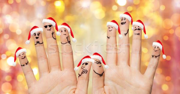 Stockfoto: Vingers · hoeden · christmas