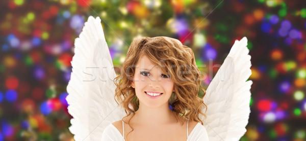 Feliz muchacha adolescente personas vacaciones Foto stock © dolgachov