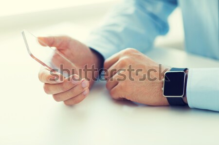 close up of woman making blood test by glucometer Stock photo © dolgachov