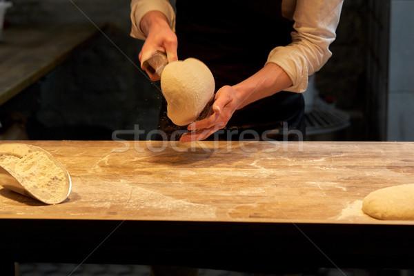 パン ベンチ ベーカリー 食品 料理 ストックフォト © dolgachov