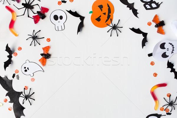 Stockfoto: Halloween · partij · papier · decoraties · snoep · vakantie