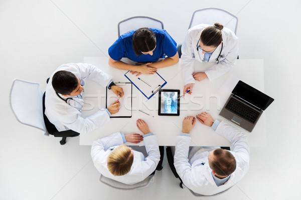 Médicos espina Xray ordenador medicina Foto stock © dolgachov
