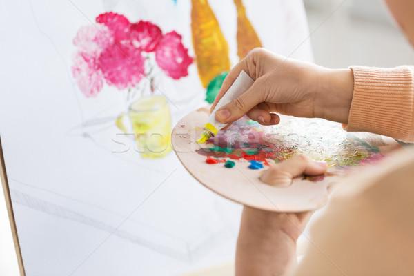 Artista vernice palette arte studio Foto d'archivio © dolgachov