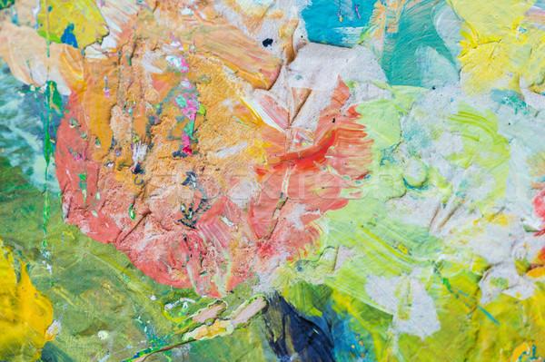 close up of colorful painting Stock photo © dolgachov