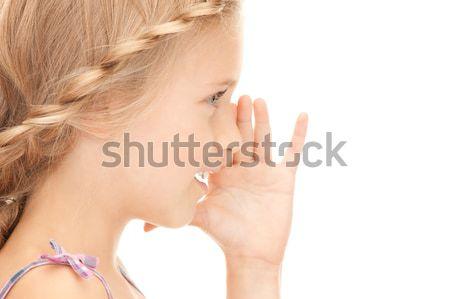 Jégcsap portré nő fehér arc szépség Stock fotó © dolgachov
