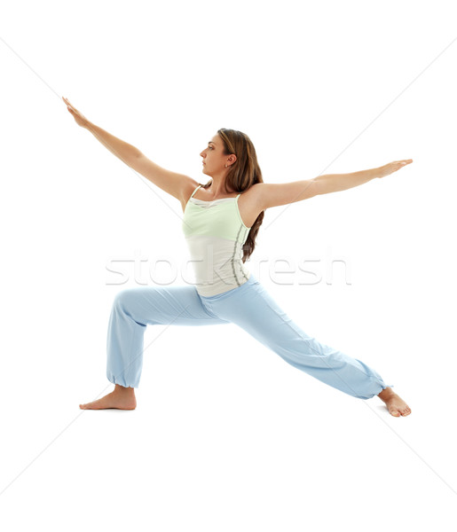 virabhadrasana warrior pose #3 Stock photo © dolgachov